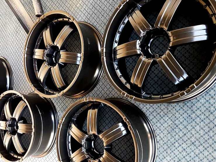 powder coated chrome rims